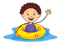 Summer Sports Kid With Airtube In Pool Clipart Size 105 Kb