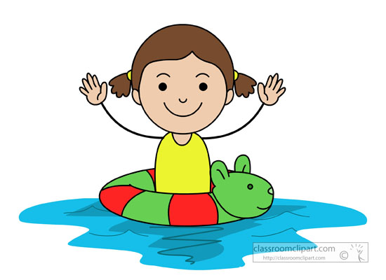 Swimming Clipart Clipart Child In Swimming Pool In Animal Inner Tube Classroom Clipart
