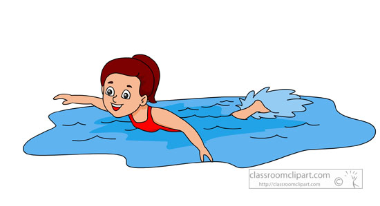 Swimming Clipart Girl Swimming Clipart548 Classroom Clipart