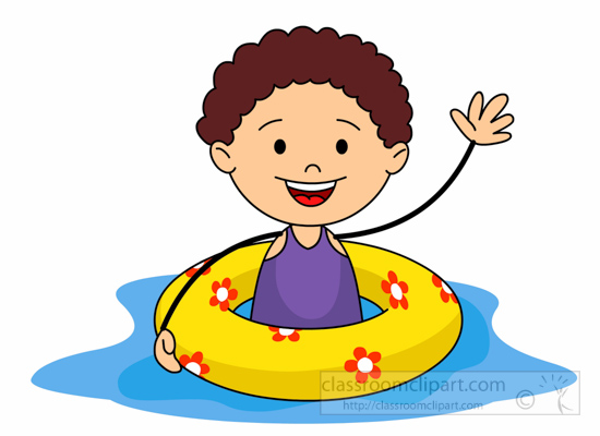 Swimming Clipart Summer Sports Kid With Airtube In Pool Clipart 6215 Classroom Clipart