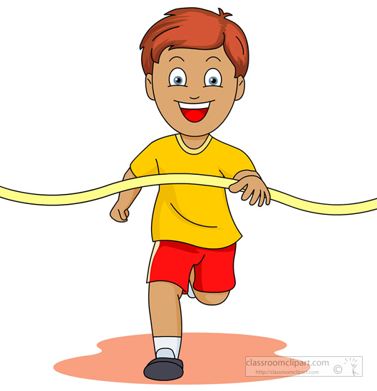track and field clipart clipart- boy-crossing-finish-line