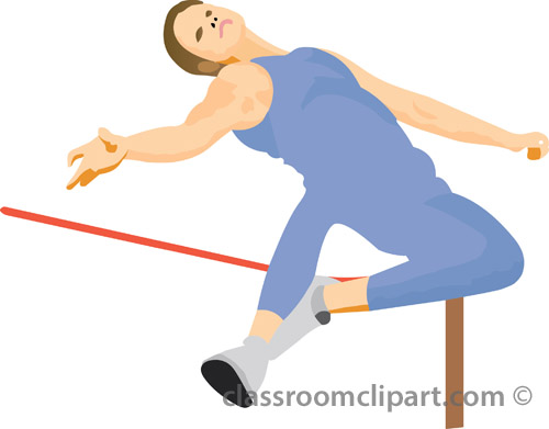 Track and Field Clipart : high_jump_track_3_07 : Classroom ...