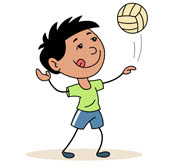 Sports Clipart - Free Volleyball Clipart to Download