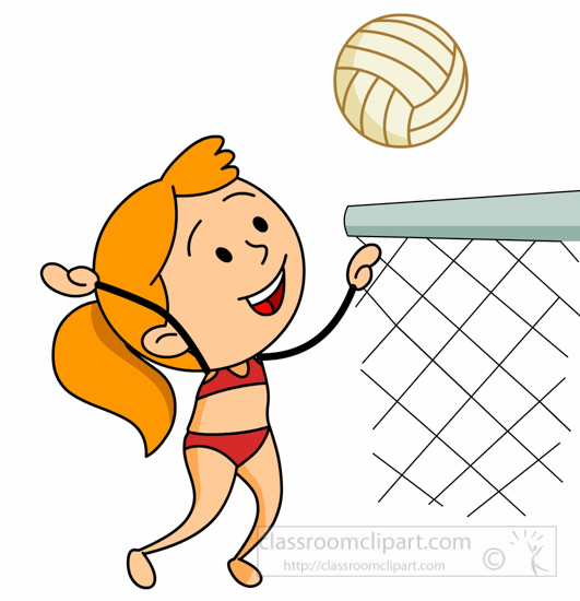 Volleyball Clipart : girl-in-bathing-suit-playing-beach ...