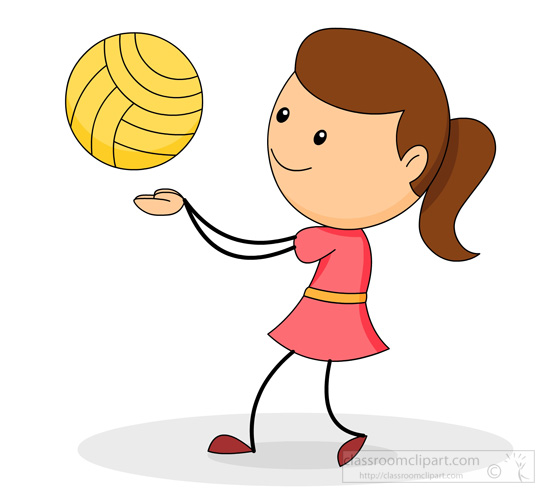 Volleyball Clipart : girl-playing-vollyball-0115 ...