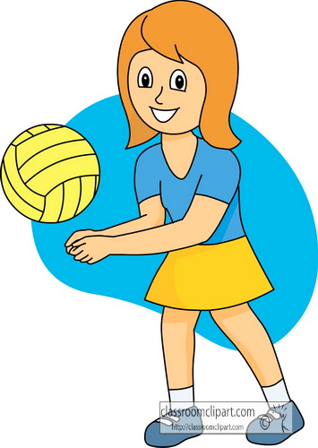 Volleyball Clipart Clipart- girl_playing_volleyball_2 ...