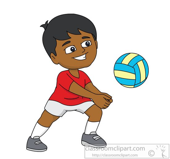 Volleyball Clipart : playing-beach-vollyball-clipart-6161 ...