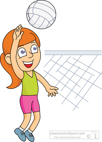 Volleyball Clipart : playing_volleyball_214 : Classroom ...