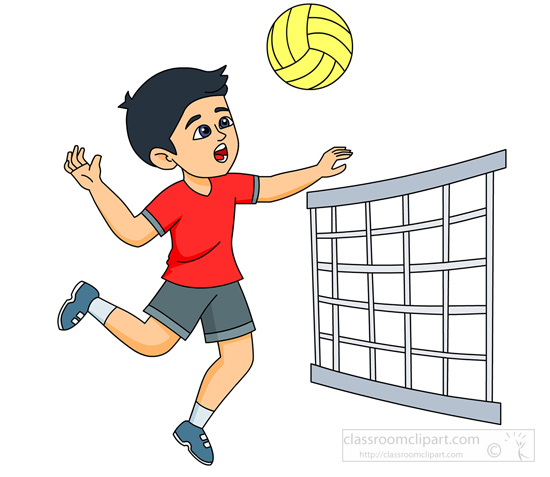 sports clipart free volleyball clipart to download rh classroomclipart com female volleyball player clipart volleyball player clipart black and white