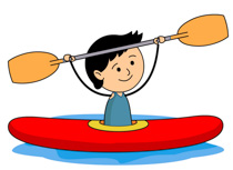 Boy River Rafting Holding Paddle Clipart 6215 Size 97 Kb From Water Sports