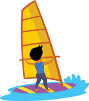 Boy Windsurfing Water Sports Clipart 2 517 Size 98 Kb From