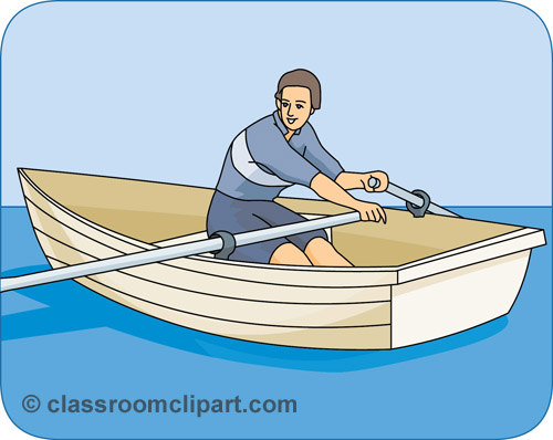 Water Sports : row_boat_02A : Classroom Clipart