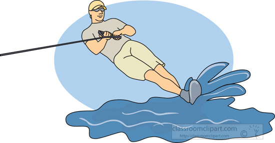 Water Sports : water_skiing_10A : Classroom Clipart