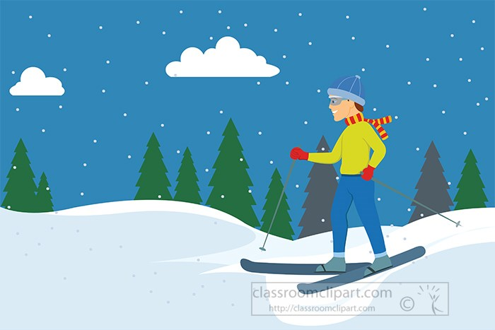 snow-skier-on-mountain-slope-with-trees-in-background-clipart.jpg