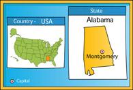 Fifty States: Alabama Clipart - Illustrations - Alabama Graphics