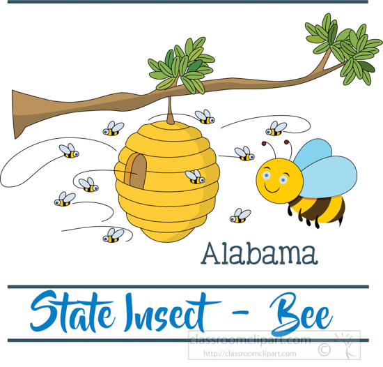 alabama-state-insect-the-honey-bee-clipart-image-45327.jpg