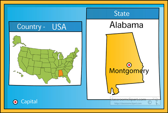 Search Results For Montgomery Clip Art Pictures Graphics - Usa state map with capitals