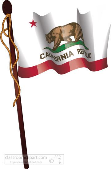 California State Flag On A Flagpole