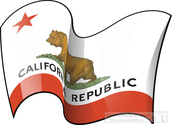 California State Flag Waving Clipart
