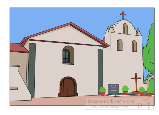 California : mission-santa-ines-founded-in-1804-clipart-524 ...
