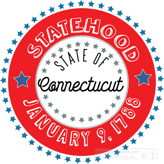 date-of-connecticut-1788-statehood-round-style-with-stars-clipart-image.jpg