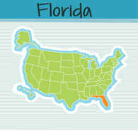 Fifty States Florida Clipart Illustrations Florida Graphics - Map of the states