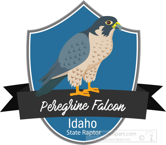 state-raptor-of-idaho-the-peregrine-falcon-clipart.jpg