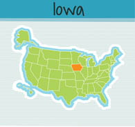 Fifty States Iowa Clipart Illustrations Iowa Graphics - United states map iowa