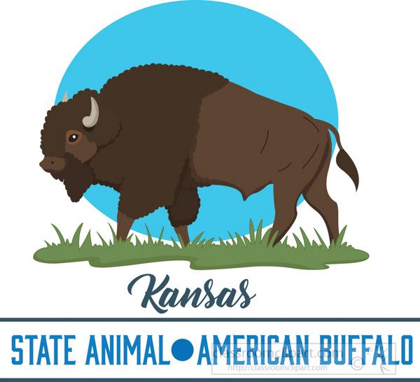 kansas-state-animal-american-buffalo-vector-clipart-image.jpg