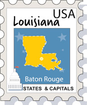 Fifty States: Louisiana Clipart - Illustrations - Louisiana Graphics