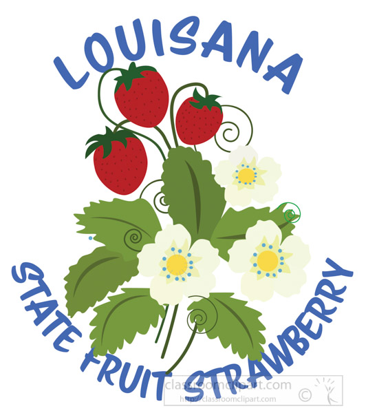 strawberry-state-fruit-louisiana-clipart.jpg