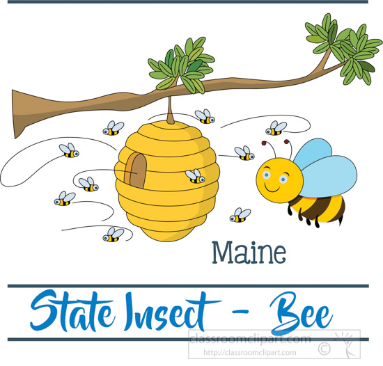 maine-state-insect-the-honey-bee-clipart-image.jpg