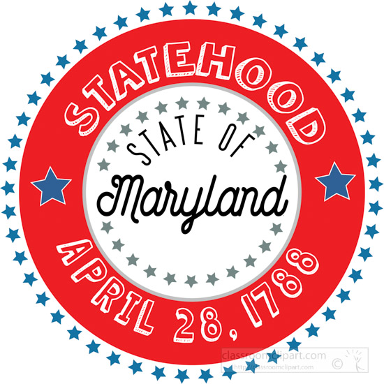 date-of-maryland-statehood-1788-round-style-with-stars-clipart-image.jpg