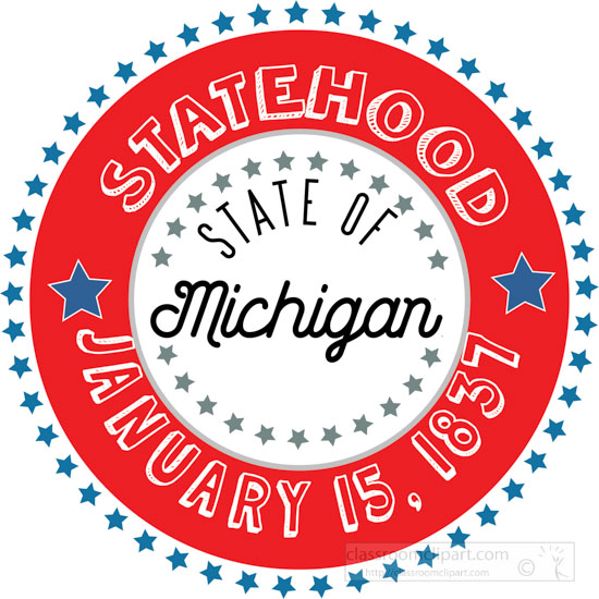 date-of-michigan-statehood-1837-round-style-with-stars-clipart-image.jpg