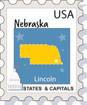 Fifty States Nebraska Clipart Illustrations Nebraska Graphics - Us map nebraska state