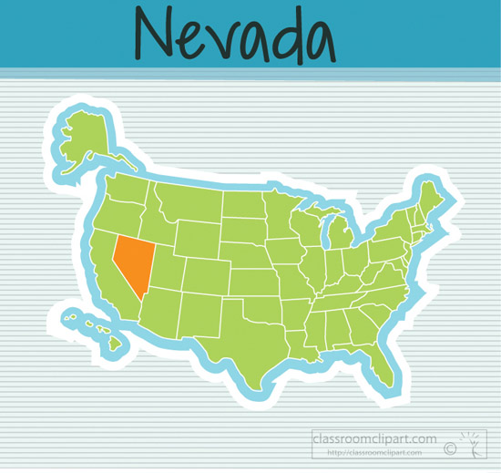 Clipart - us-map-state-nevada-square-clipart-image - Classroom Clipart