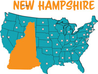 Fifty States New Hampshire Clipart Illustrations New - New hampshire on the map of usa
