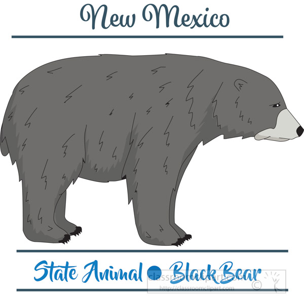 new-mexico-state-animal-black-bear-vector-clipart-image.jpg