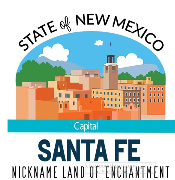 new-mexico-state-capital-santa-fe-nickname-land-of-enchantment-vector-clipart.jpg