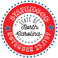Fifty States: North Carolina Clipart - Illustrations - North
