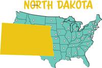 Fifty States North Dakota Clipart Illustrations North Dakota - North dakota on the us map