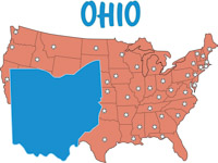 Fifty States Ohio Clipart Illustrations Ohio Graphics - Us map ohio