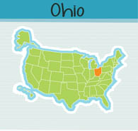 Fifty States Ohio Clipart Illustrations Ohio Graphics - State map of us ohio