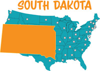 Fifty States South Dakota Clipart Illustrations South Dakota - South dakota on the us map