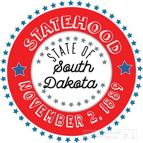 date-of-south-dakota-statehood-1889-round-style-with-stars-clipart-image.jpg
