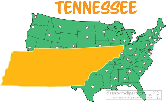 Clipart - tennessee-map-united-states-clipart - Classroom Clipart