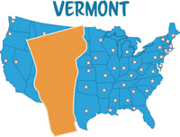Vermont Location Usa Map D Sate With Sch Bubble On Silver Map - Vermont in usa map