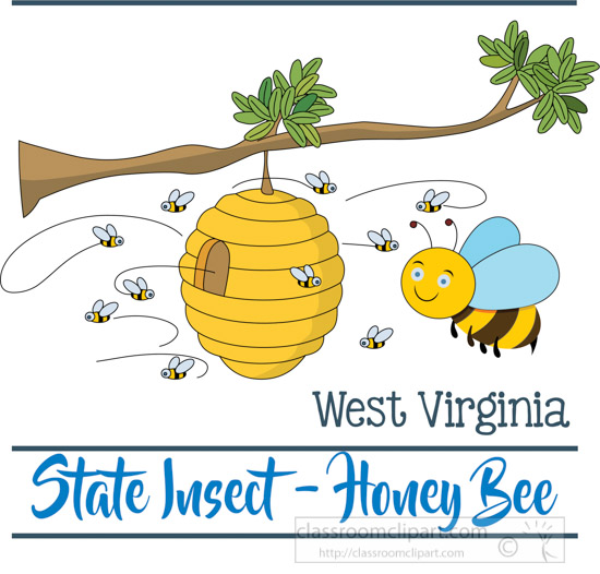 west-virginia-insect-the-honey-bee-clipart-image.jpg