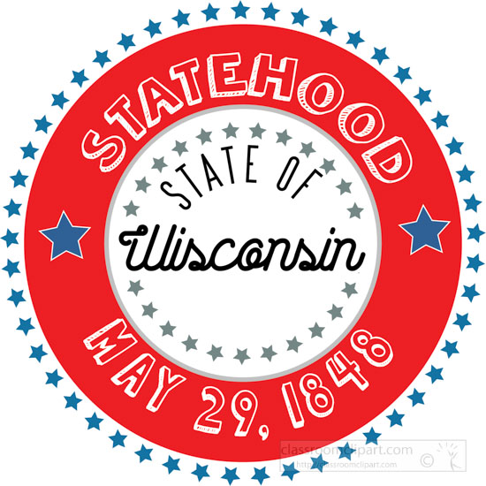 date-of-wisconsin-statehood-1848-round-style-with-stars-clipart-image.jpg