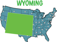 Map Of Usa Showing Wyoming wyoming travel attractions map devil
